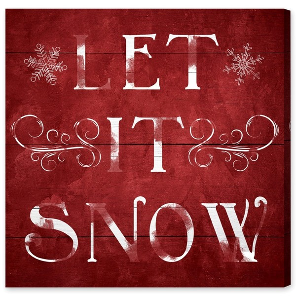 Let It Snow Canvas Art