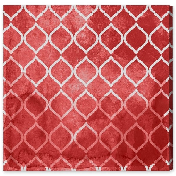 Global Brocade Red Canvas Art