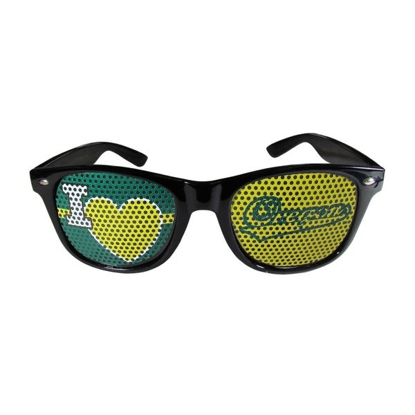 NCAA Oregon Ducks Black Plastic 'I Heart Game Day' Shades 21627284