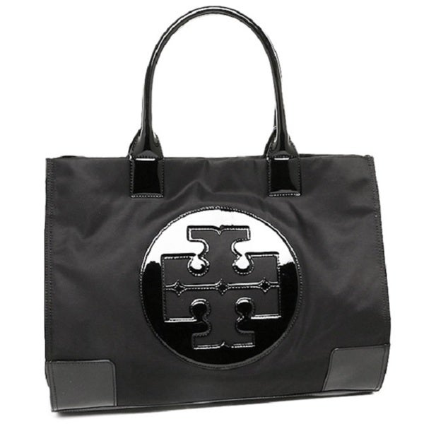 Tory Burch Ella Black Nylon Tote