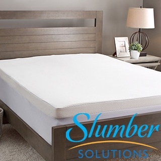 Slumber Solutions 2-inch Memory Foam Mattress Topper with Waterproof Cover