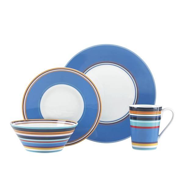 Lenox DKNY Urban Essentials Marine Porcelain 4-piece place Packting