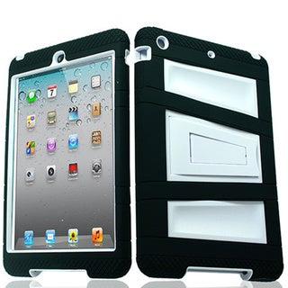 Armor White TPU and Polycarbonate Case With Stand for iPad Mini