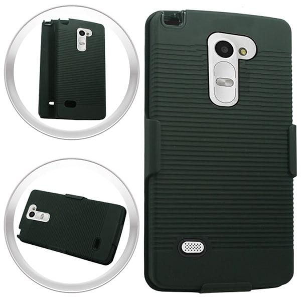LG Magna H502G Volt 2 LS751 Black TPU Ripple Case