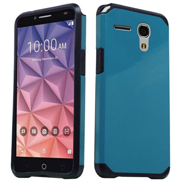 Alcatel Fierce XL 5054 Style 2 Blue/Red TPU and PC Slim Protective Case