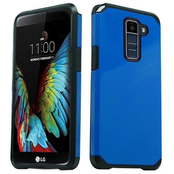 LG K10 Blue TPU/PC Slim Case