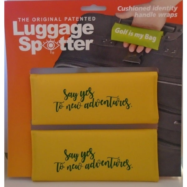 The Original Patented Bright Yellow 'Say Yes To New Adventures' Luggage Spotter