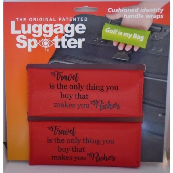 The Original Patented Bright Red 'Travel Makes you Richer' Luggage Spotter