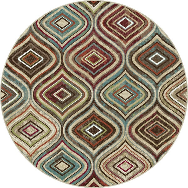 Caprice Contemporary Multi Area Rug (5'3 Diameter)
