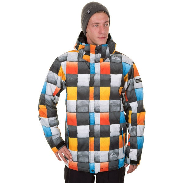 Quiksilver Men's 10K Mission Multicolor Polyester Snowboarding Jacket
