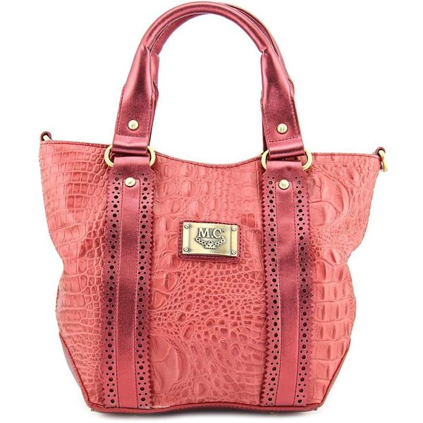 Madi Claire Women's Ariana Satchel Pink Leather Handbag