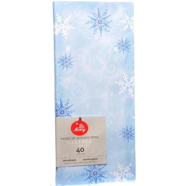 Blue Snowflake #10 Envelopes (Case of 40)