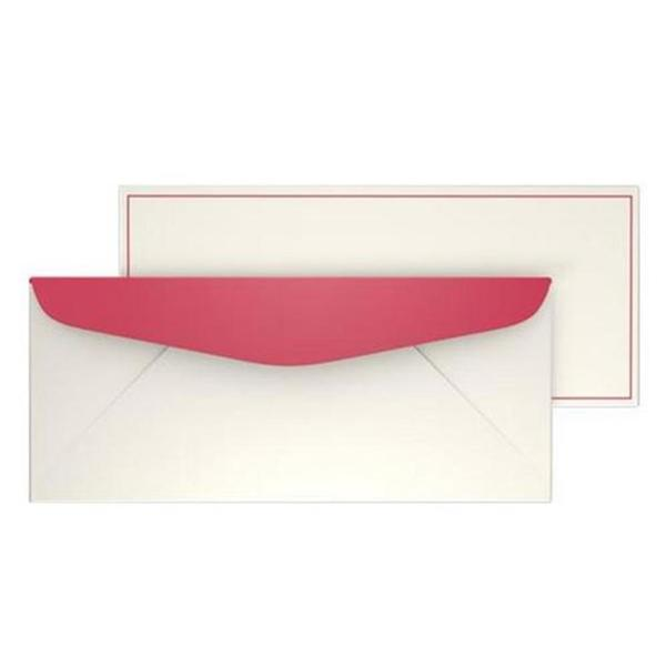 Red Bordered #10 40-count Envelopes