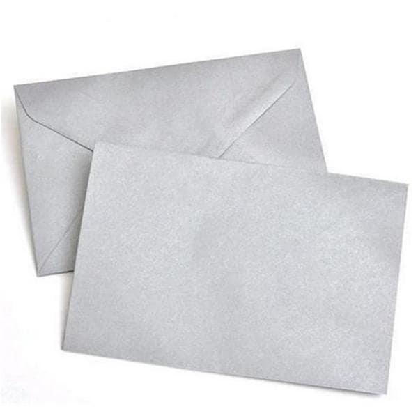 Silver Metallic A9 40-count Envelopes