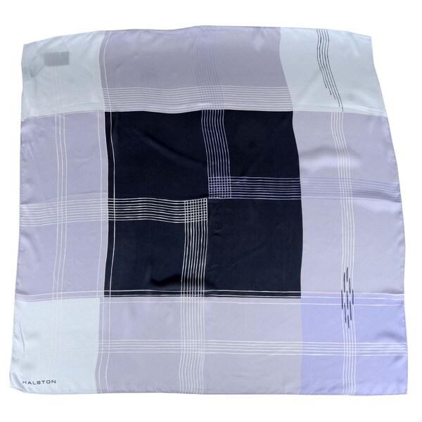 Halston Heritage Grid Silk Scarf