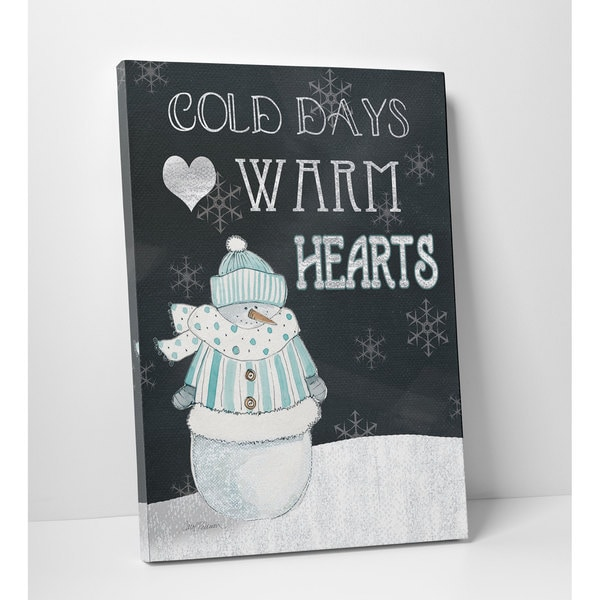 Carol Robinson 'Cold Days Warm Hearts' Premium Gallery Wrapped Canvas