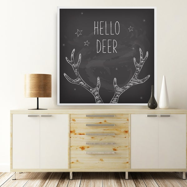 Wexford Home 'Yes Deer Holiday Reindeer' Premium Gallery-wrapped Canvas
