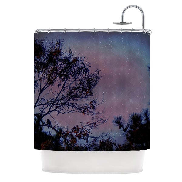 Kess InHouse Robin Dickinson Twilight Purple Tree Shower Curtain