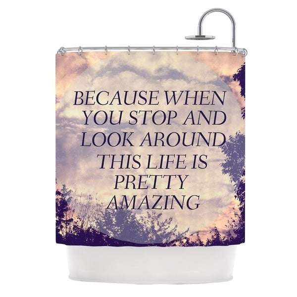 Kess InHouse Rachel Burbee Pretty Amazing Tan Sky Shower Curtain 21677610