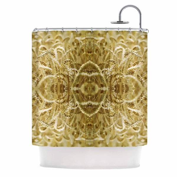 Kess InHouse Pia Schneider Cornfield Pattern,ocker Gold Yellow Pattern Shower Curtain