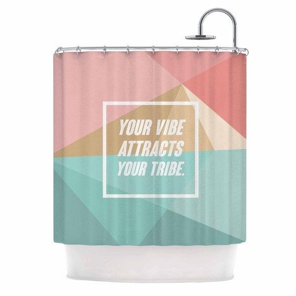 Kess InHouse Juan Paolo Nisha Pink Aqua Shower Curtain