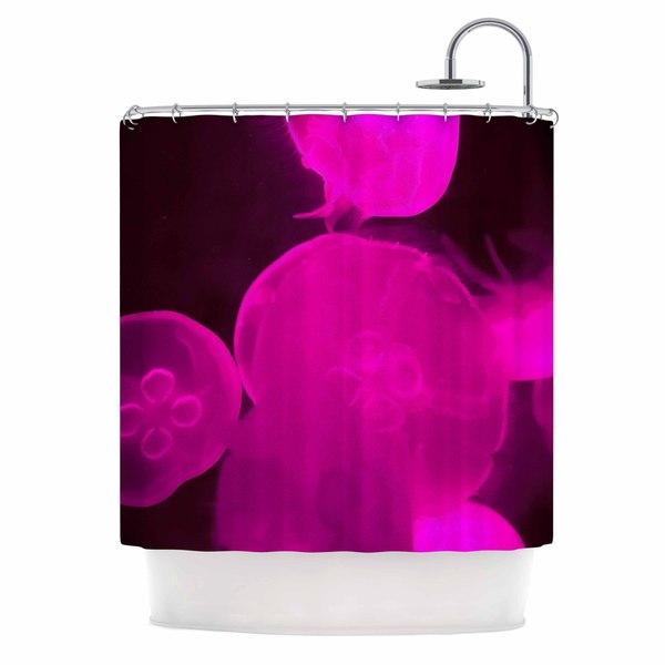 Kess InHouse Juan Paolo Pink Jellyfish Pink Magenta Shower Curtain