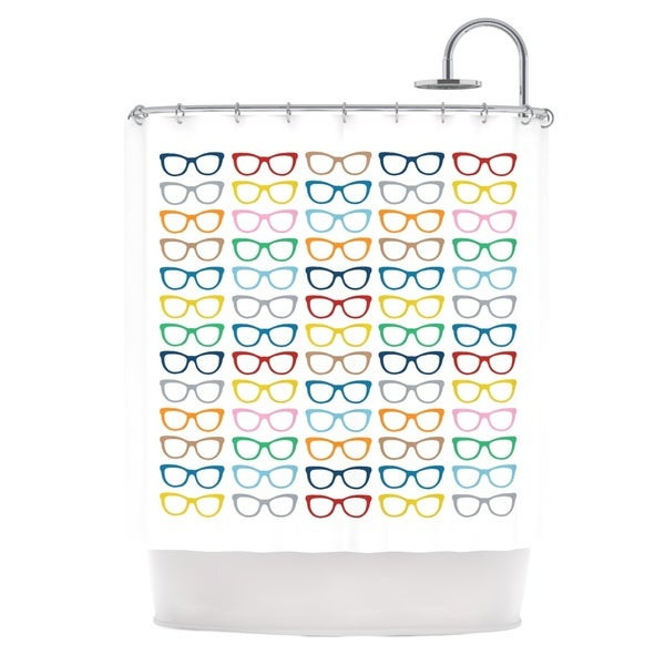 Kess InHouse Project M Rainbow Specs Shower Curtain