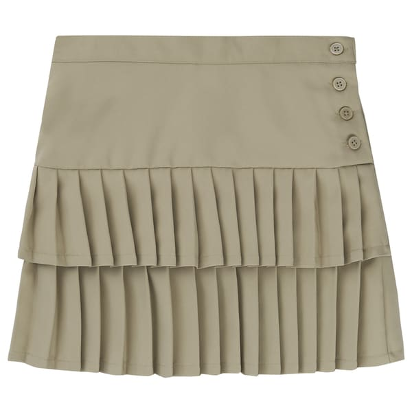 French Toast Kids' Girls' Polyester Double-pleated Scooter Skirt