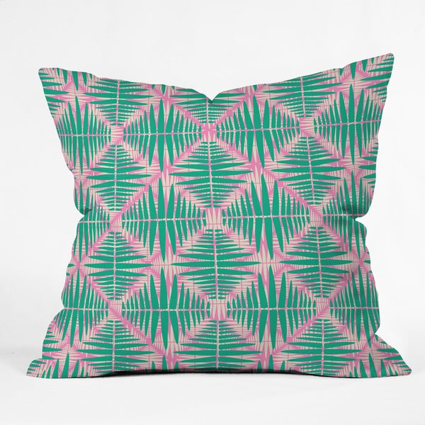 DENY Designs Zoe Wodarz Hot Tropic Pink Polyester Throw Pillow
