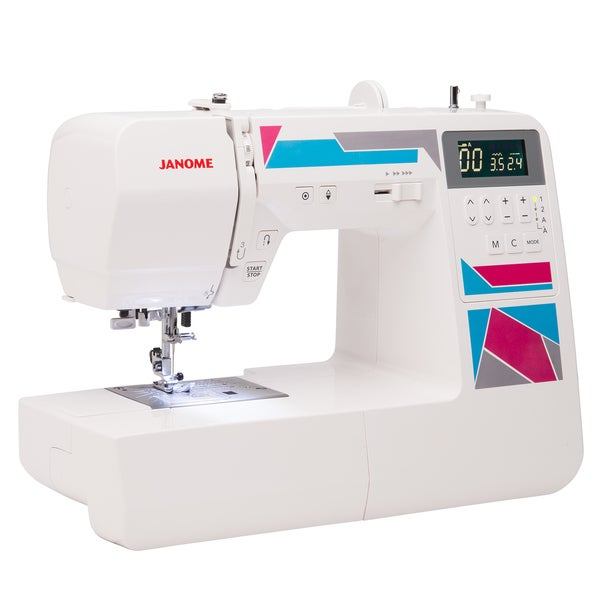 Janome MOD-200 White 200-stitch Computerized Sewing Machine