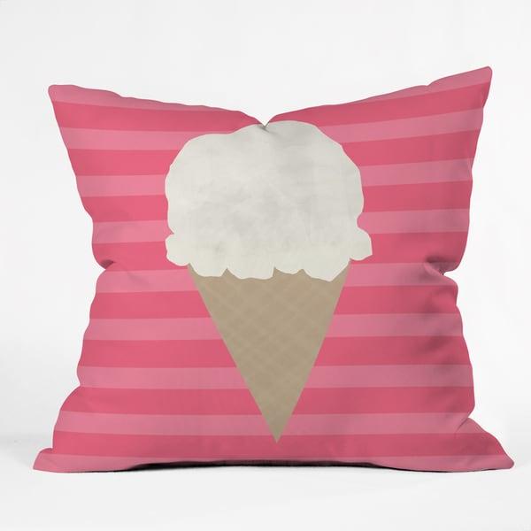 Allyson Johnson Vanilla Ice Cream Polyester Throw Pillow