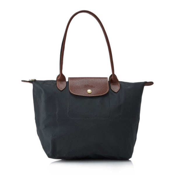 Longchamp Le Pliage Grey Nylon Foldable Shoulder Tote Bag