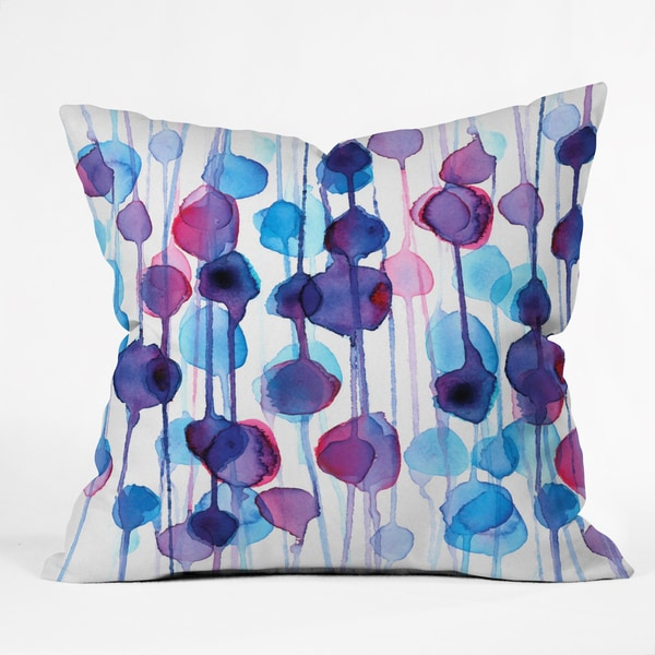 DENY Designs Cmykaren Abstract Watercolor Polyester Throw Pillow