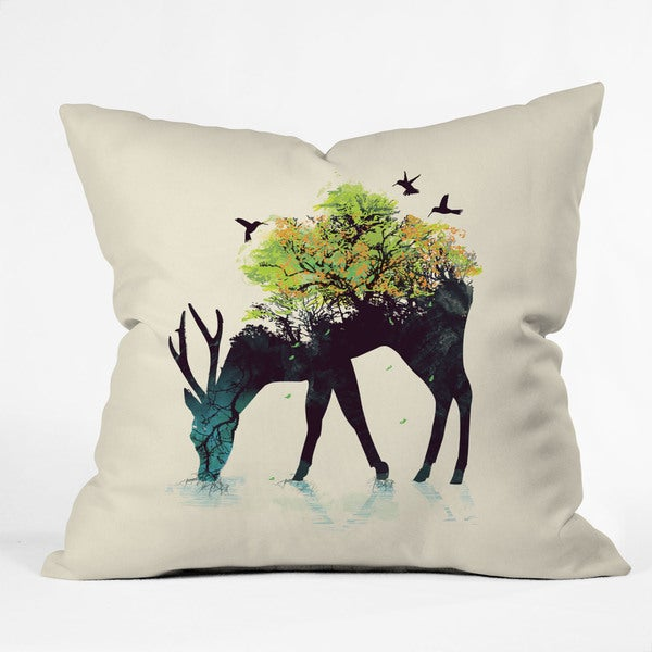 DENY Designs Budi Kwan Watering A Life Into Itself Throw Pillow