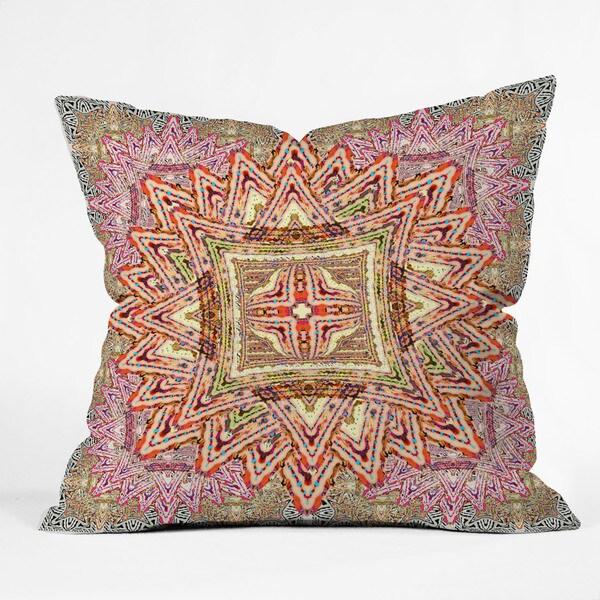 DENY Designs Ingrid Padilla Boho Vintage Multicolor Polyester Throw Pillow