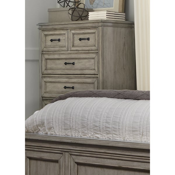 Grayton Grove Driftwood 5-Drawer Chest