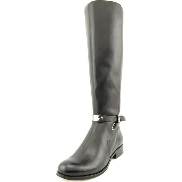 Michael Michael Kors Women's 'Arley Riding Boot Wide Calf' Black Leather Knee-high Boots