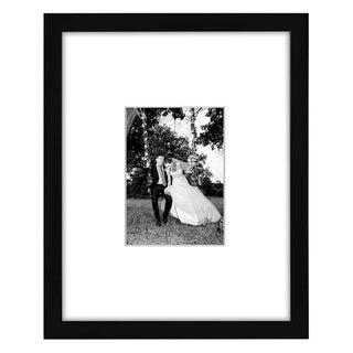 Americanflat Black Wall Picture Frame with Protective Glass Covering for 5 x 7-inch with Mat or 11 x 14-inch without Mat