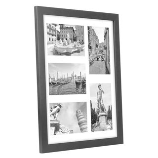 Americanflat Collage 11x14-inch Picture Frame Displays Five 4x6-inch Pictures with Mat and Glass Protection