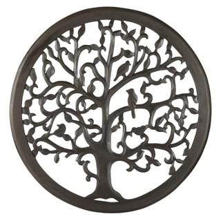 "30"" Dark Brown Solaris Ten Tree of Life Wall Art"