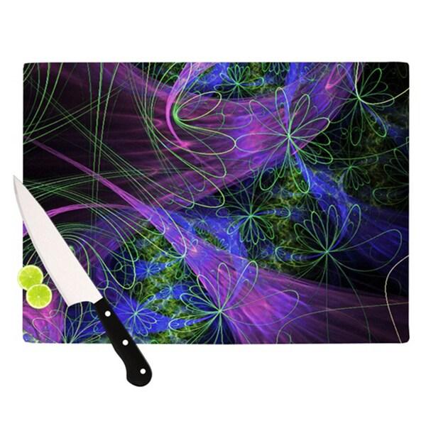 Kess InHouse Alison Coxon 'Floral Garden' Cutting Board