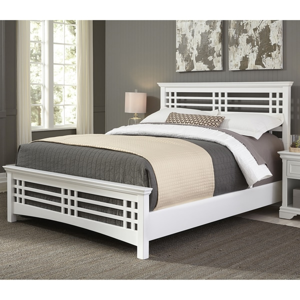 Avery Complete Bed with Wood Frame and Mission Style Design