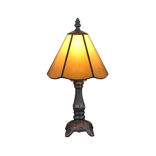 Tiffany-style Yellow Stained Glass 6.5-inch Table Lamps