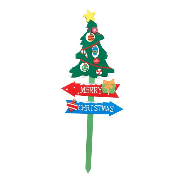39-inch Christmas Tree Garden Stake