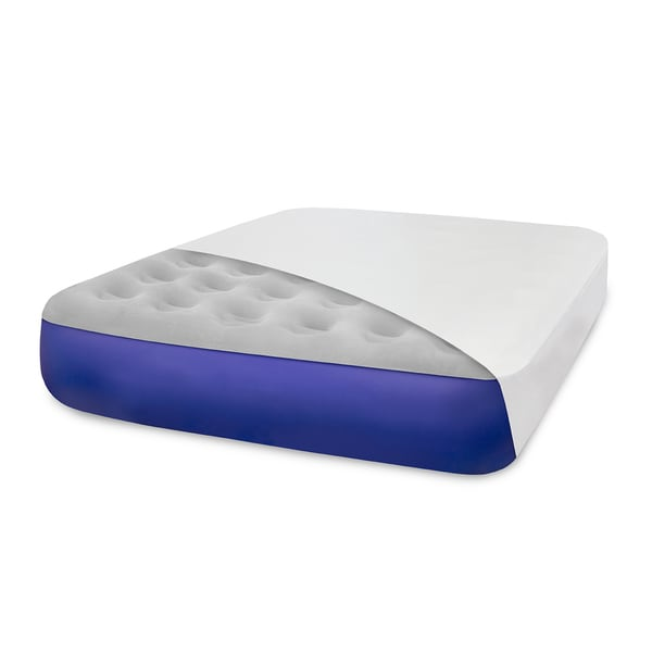 SwissLux Classic Blue Self-inflating Full-size Airbed