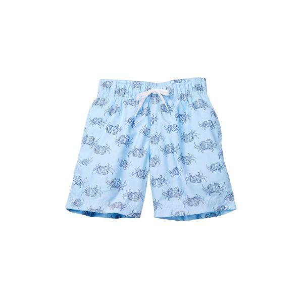 Boy's Blue Polyester Crab Walk Shorts