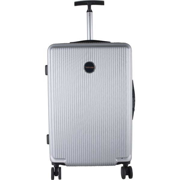 Murano Silver ABS/Mesh/Metal 24-inch Expandable Hardside Spinner Suitcase