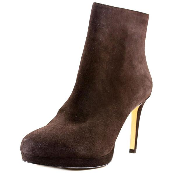 Michael Michael Kors Women's 'Sammy Platform Ankle Bootie' Regular Brown Suede Boots