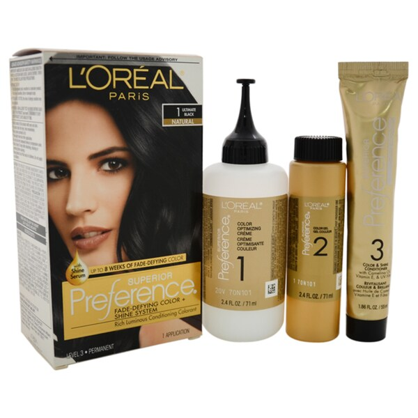 L'Oreal Superior Preference Fade-Defying Color # 1 Ultimate Black Natural