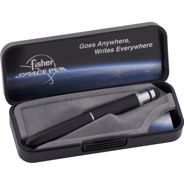Fisher Space Pens Matte Black Bullet Grip Space Pen with Stylus